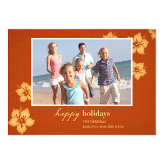 Tropical Beach Holiday Photo Cards