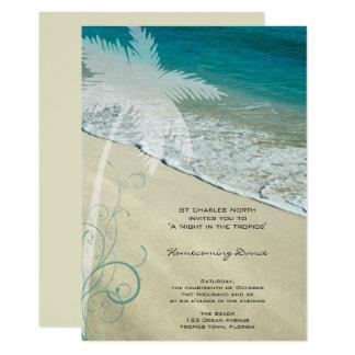 Tropical Beach Homecoming Dance Invitation