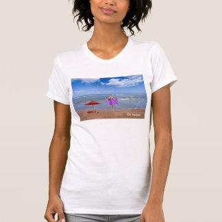 Tropical Beach image Women's-Jersey-T-Shirt T-Shirt