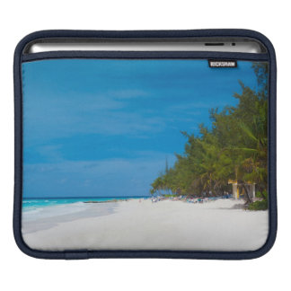 Tropical Beach in Barbados iPad Sleeve