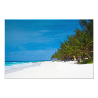 Tropical Beach in Barbados Photo Print