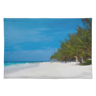 Tropical Beach in Barbados Place Mats