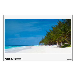 Tropical Beach in Barbados Room Decal