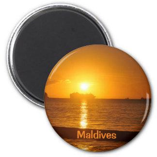 Tropical beach in Maldives Magnet