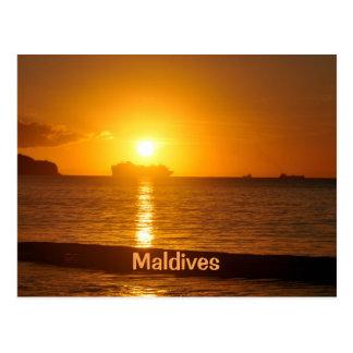 Tropical beach in Maldives Postcard