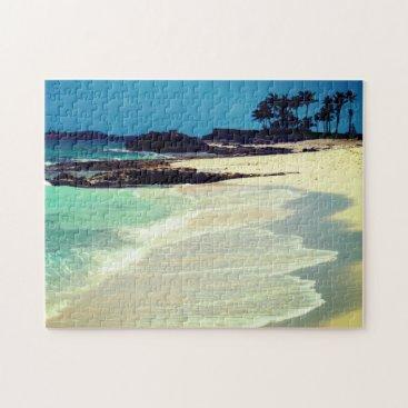 Beach Themed Tropical Beach Jigsaw Puzzle