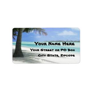 Tropical Beach Label