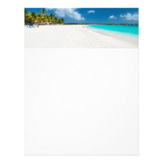 Tropical beach personalized letterhead