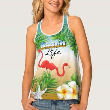 Beach Themed Tropical Beach Life Tank Top