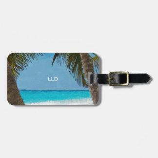 Tropical Beach Tag For Bags