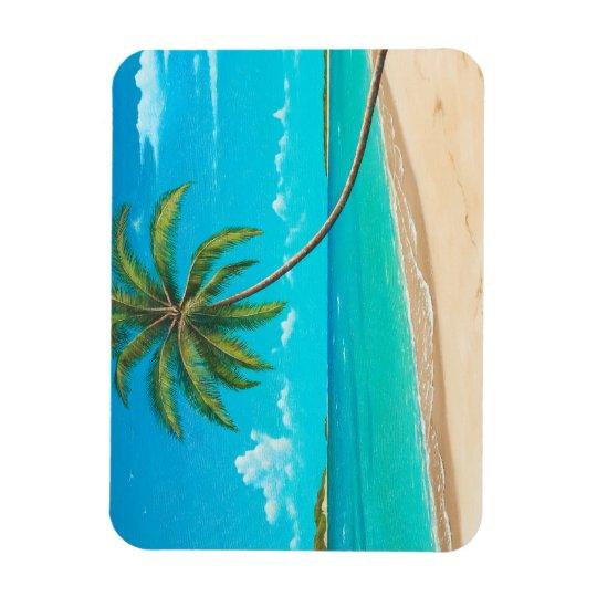 Tropical beach magnet