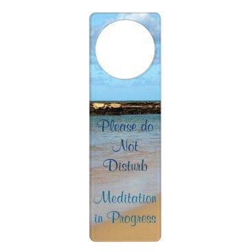 Beach Themed Tropical Beach Meditation Door Hanger