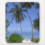 """Tropical Beach Mouse Pad<br><div class=""""desc"""">Picturesque view on a tropical beach in the Maldives</div>"""