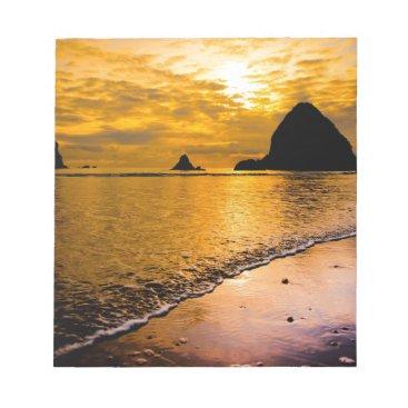 tropical beach notepad