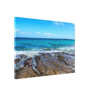 Beach Themed Tropical Beach&Ocean Shore Canvas Print