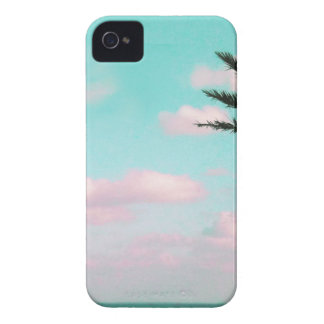 Tropical Beach, Ocean View, Pink Clouds, Palm iPhone 4 Cover