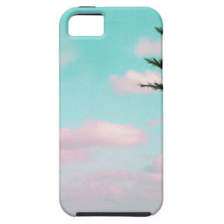 Tropical Beach, Ocean View, Pink Clouds, Palm iPhone SE/5/5s Case