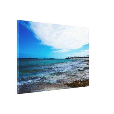 Beach Themed Tropical Beach&Ocean waves Canvas Print