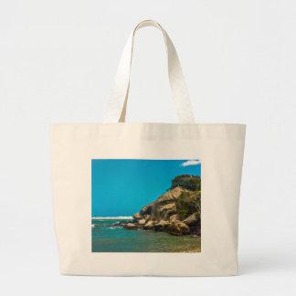 Tropical Beach of Tayrona National Park Large Tote Bag