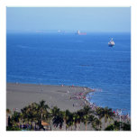 Tropical Beach on an Island by the Ocean Shore Poster