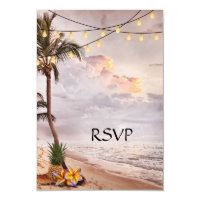 Tropical Beach or Destination Wedding RSVP Card