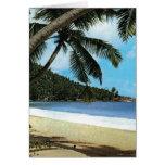 Tropical beach painting card