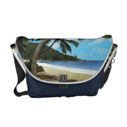 Tropical Beach Painting Courier Bags