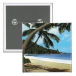 Tropical beach painting pin