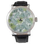 Tropical Beach Palm Leaves Art Graphic Wrist Watch