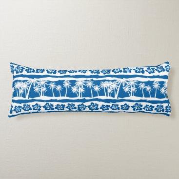 Tropical beach palm stripes body pillow