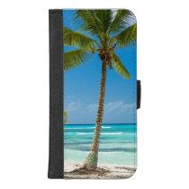 Tropical Beach Palm Tree Blue Ocean iPhone 8/7 Plus Wallet Case