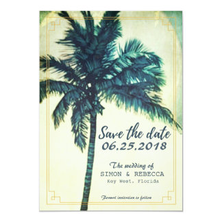Tropical Beach Palm Tree Key West Save the Date Card