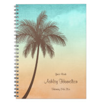 Tropical Beach Palm Tree Sweet 16 Guest Book