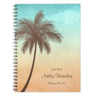 Tropical Beach Palm Tree Sweet 16 Guest Book