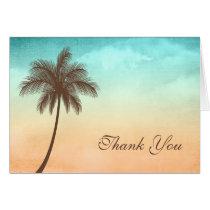 Tropical Beach Palm Tree Thank You