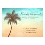 Tropical Beach Palm Tree Wedding Response Card Invitation