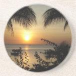 Tropical Beach Paradise Beverage Coaster