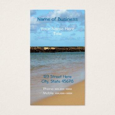 Beach Themed Tropical Beach Paradise Business Cards