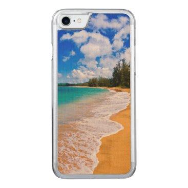 Beach Themed Tropical beach paradise, Hawaii Carved iPhone 7 Case