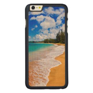 Tropical beach paradise, Hawaii Carved Maple iPhone 6 Plus Slim Case