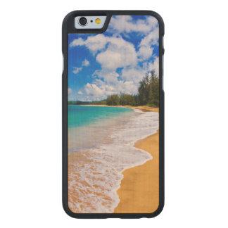 Tropical beach paradise, Hawaii Carved Maple iPhone 6 Slim Case
