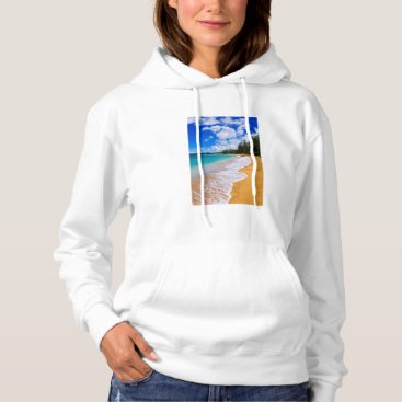 Beach Themed Tropical beach paradise, Hawaii Hoodie