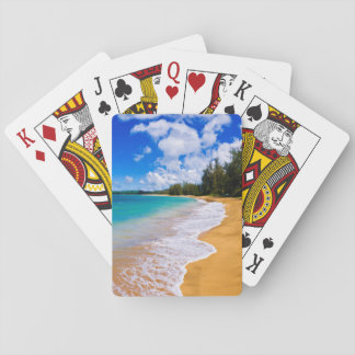Tropical beach paradise, Hawaii Playing Cards