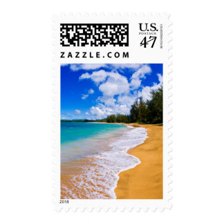 Tropical beach paradise, Hawaii Postage