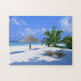 Tropical beach paradise puzzle