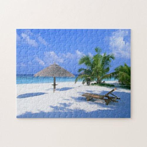 Tropical beach paradise puzzle