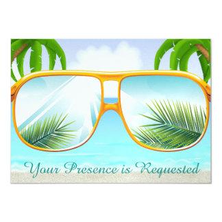 Tropical, Beach,  Party Card