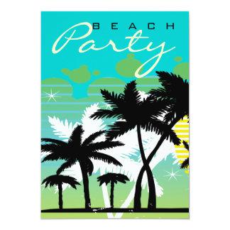 Tropical Beach Party Custom Announcement