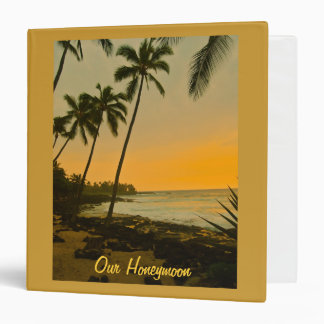 Tropical Beach Photo Album 3 Ring Binder