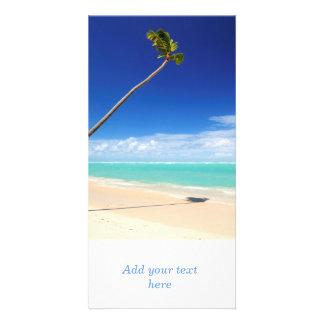Tropical beach photo card